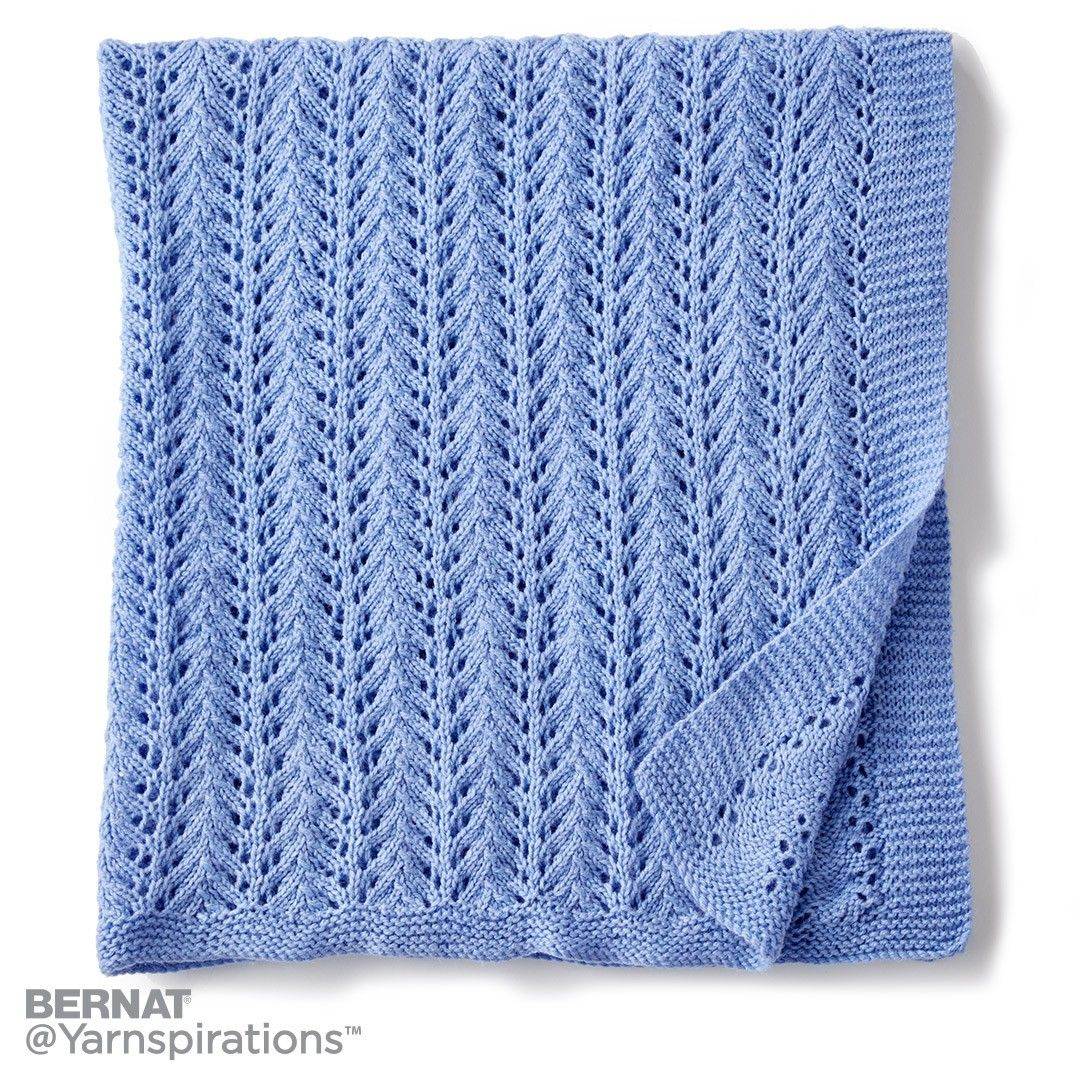 Lacy Knit Baby Blanket | Knit | Charity | Let\'s Make a Difference ...