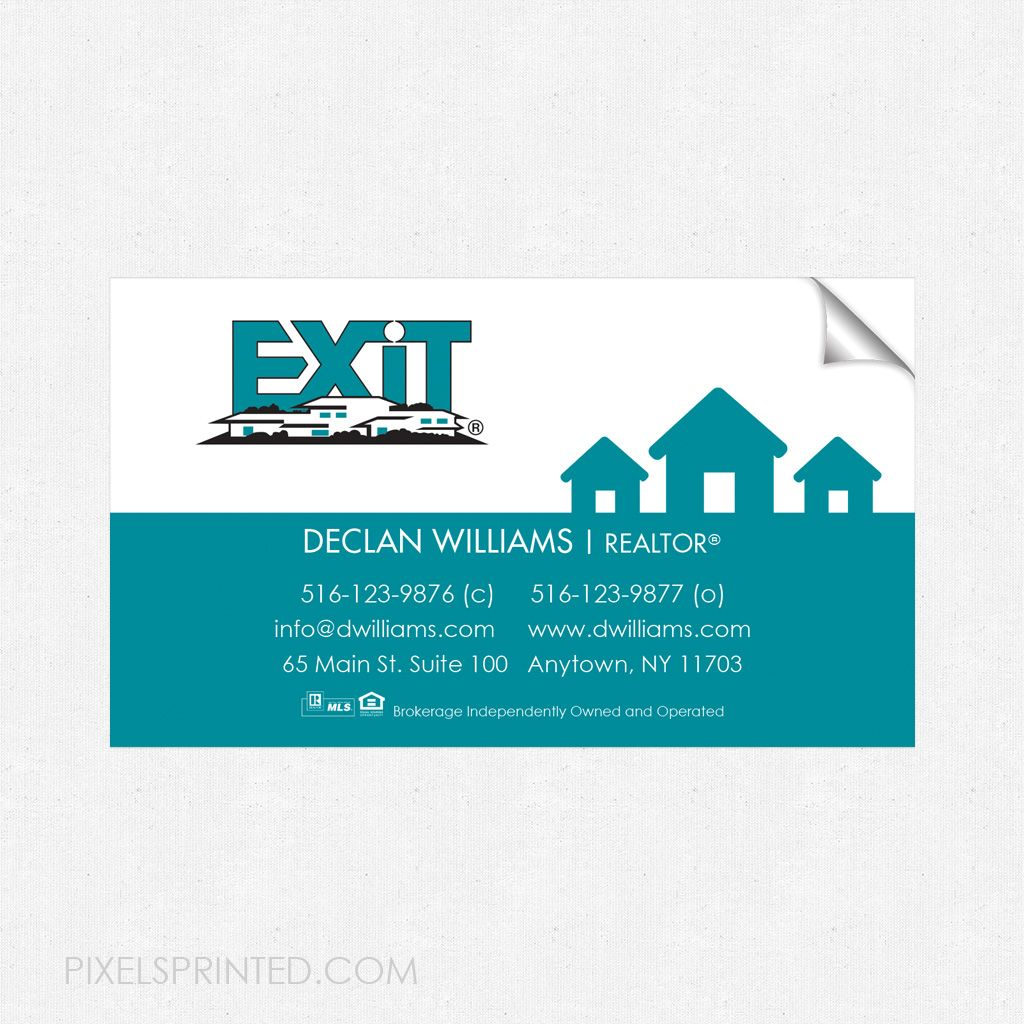 EXIT business card sticker, EXIT real estate business card sticker ...