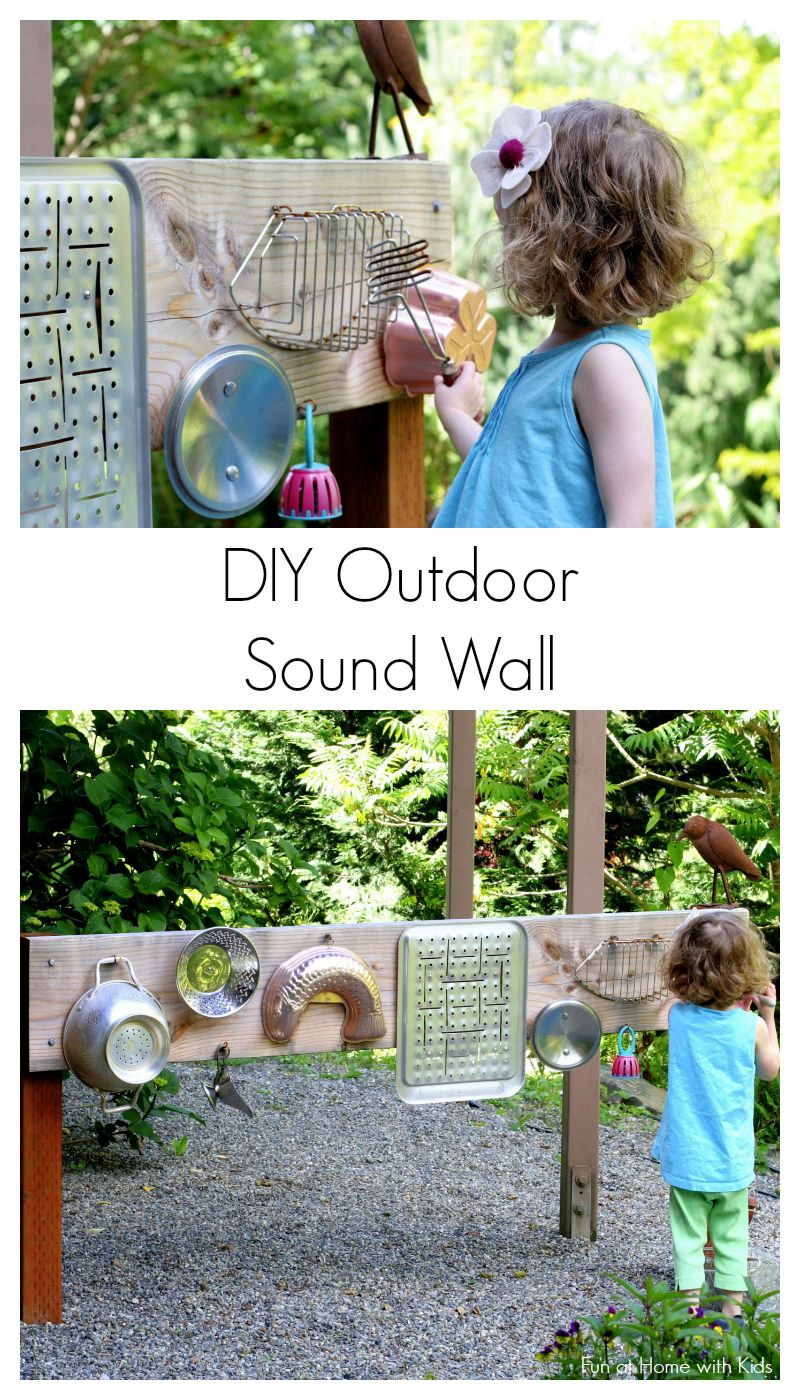 Outdoor Kinder Backyard Design Diy Outdoor Sound Wall Music Station Kids