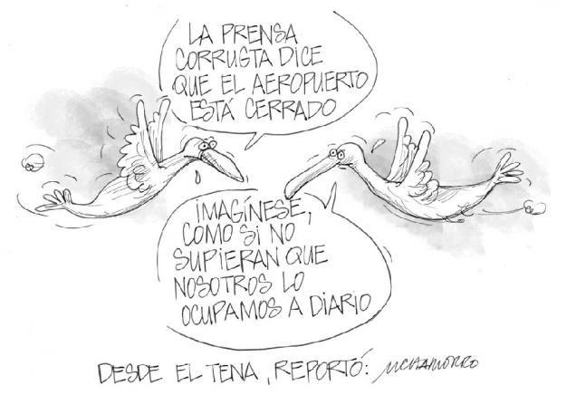 """Acá nuestra caricatura de hoy:  """"Desde el tena"""""""
