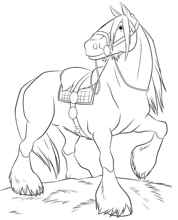 Kids N Fun Com Coloring Page Disney Horses Angus Brave Malvorlagen Pferde Ausmalbilder Pferde Zum Ausdrucken Ausmalbilder Zum Ausdrucken