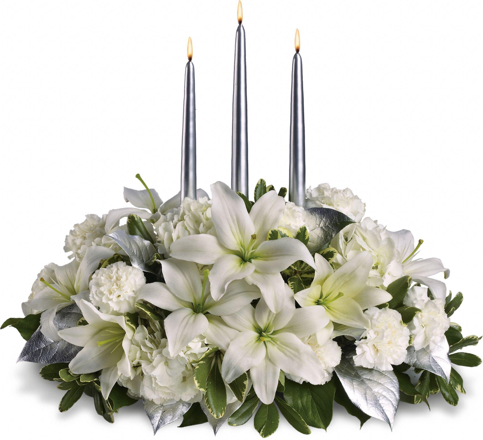 Silver Elegance Centerpiece Christmas flower