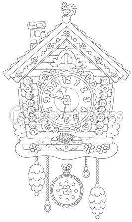 Relojes De Cuco Para Colorear Buscar Con Google F Dibujos 04