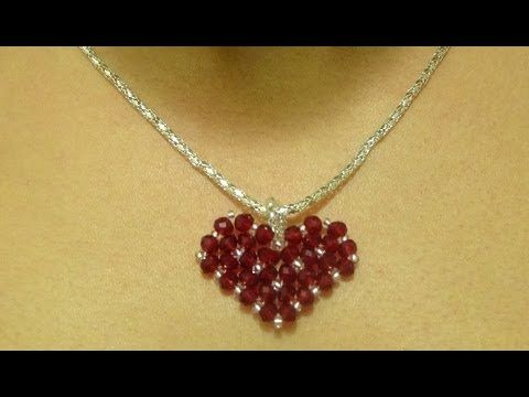 Valentine's day special: How to make a heart pendant - YouTube #makeflowers
