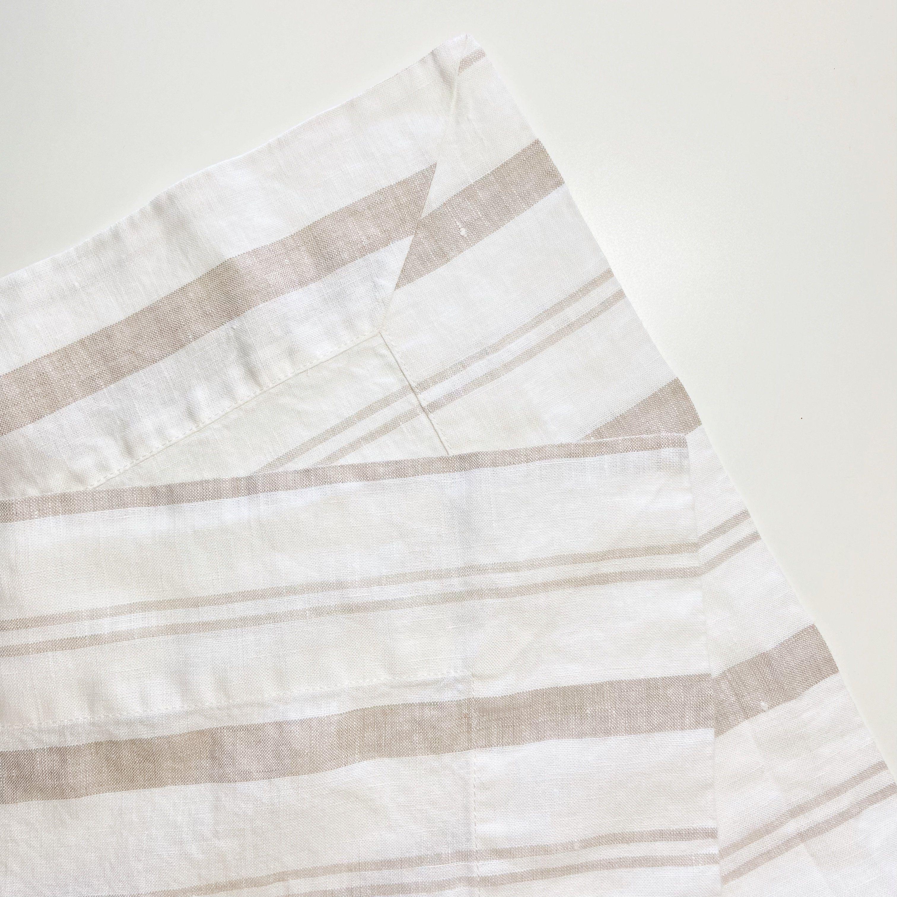 Striped Table Runner - Beige Stripe