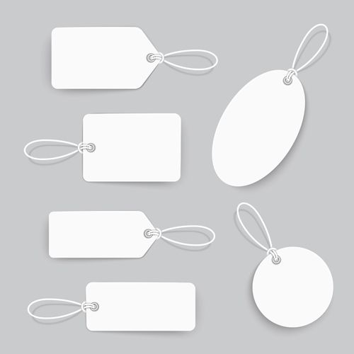 Blank tags template vector set 02 tages bookmark Pinterest - blank bookmark template