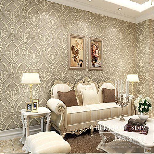 3D Three-Dimensional Non-Woven Wallpaper Roll Vine Flower Flocking 0.53m*10m Continental Bedroom Living Room Wallcovering CLEEACC http://www.amazon.com/dp/B0177UWORC/ref=cm_sw_r_pi_dp_8TdJwb13SMNBY