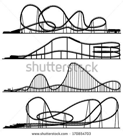 Roller Coaster Lettering Google Search Roller Coaster Drawing Roller Coaster Amusement Park
