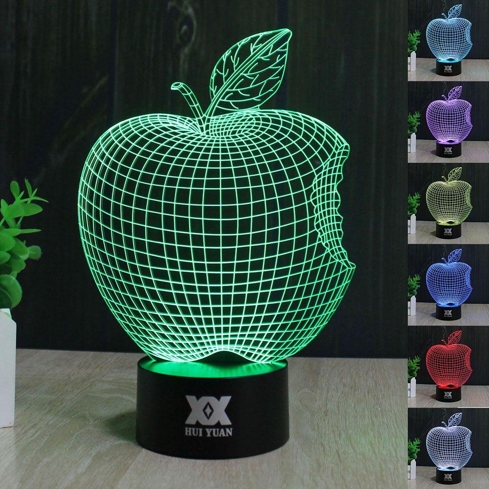 Apple lampe 3d visuelle led-nachtlichter für kind touch usb tisch ...