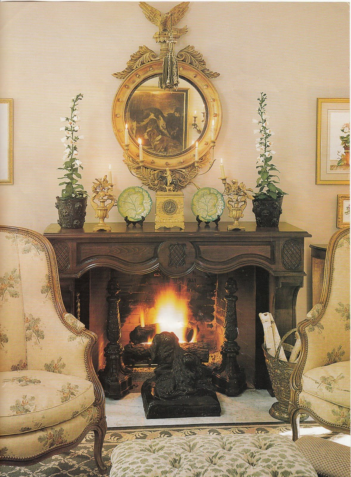Love the mantle accessories, by Charles Faudree | French country ...