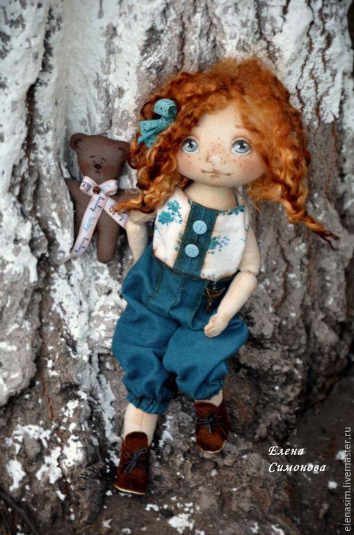 Купить Ларочка - коллекционная кукла, текстильная кукла, коллекционные игрушки, интерьерная кукла, интерьерная игрушка