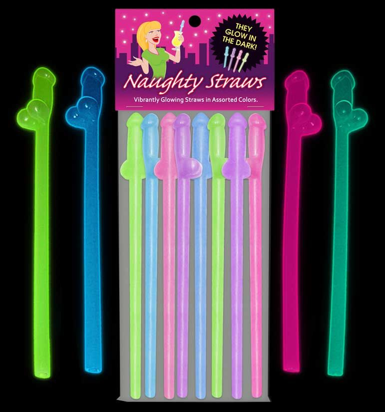 Penis glow straws a naughty way to have some drinking fun for Bachelorette party decoration packages