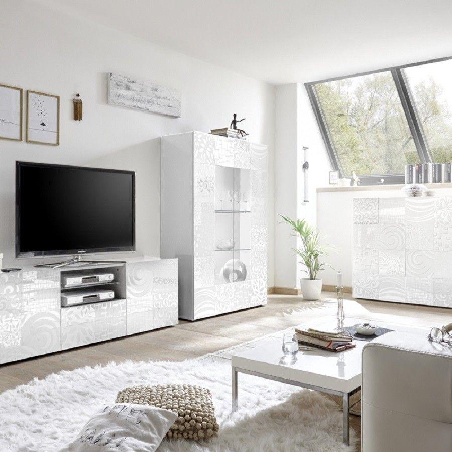 Set soggiorno Takao 2 bianco - Mobili soggiorno - Madie e ...