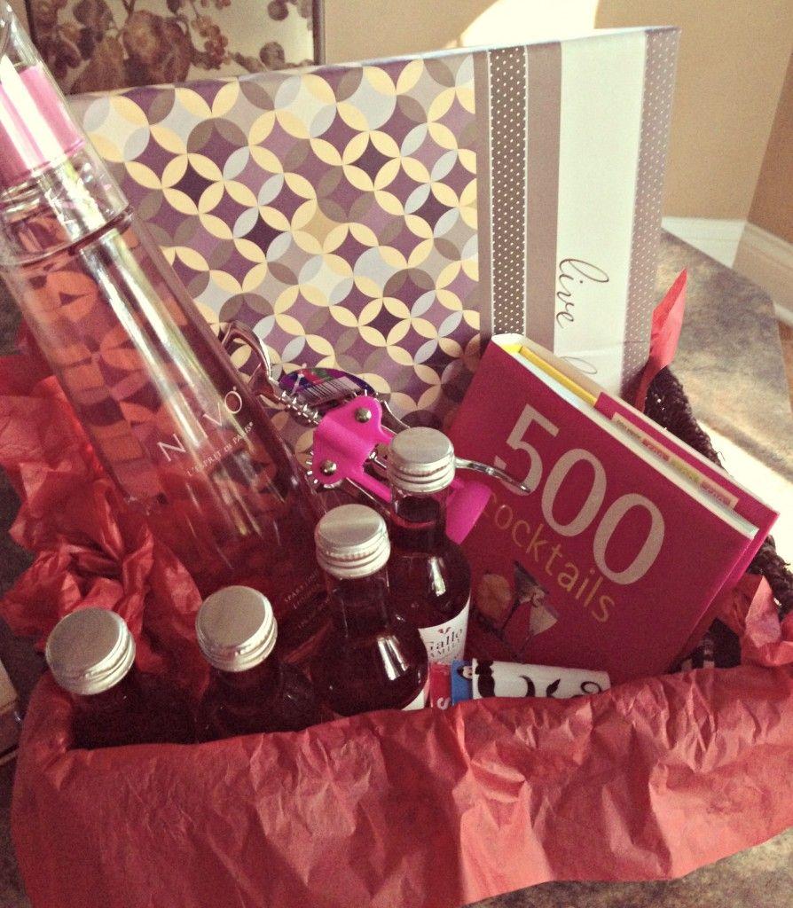 21st birthday gift basket idea