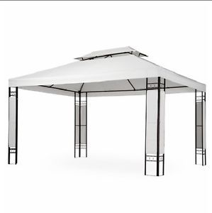 Terrific Outdoor Garden Gazebo Pavilion Patio Marquee White Party Tent Largest Home Design Picture Inspirations Pitcheantrous