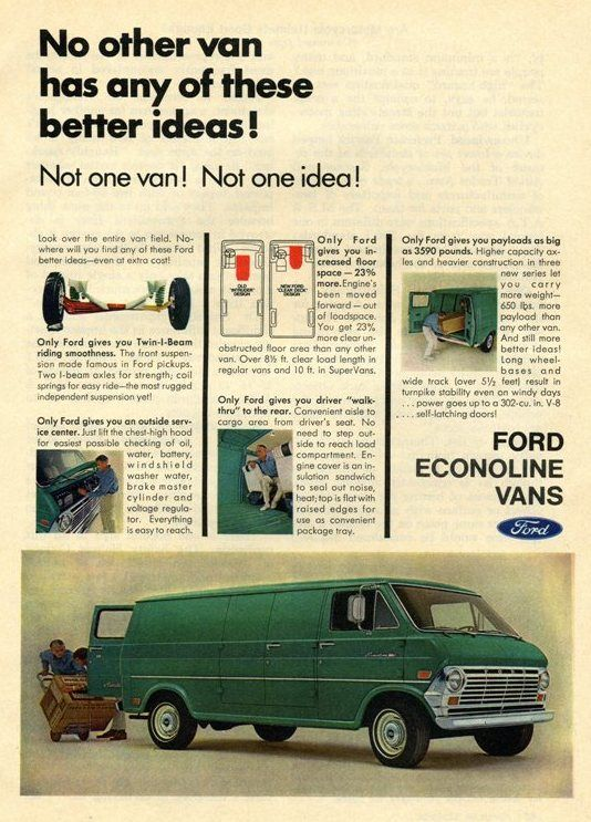 1969 FORD ECONOLINE Information Specifications Resources
