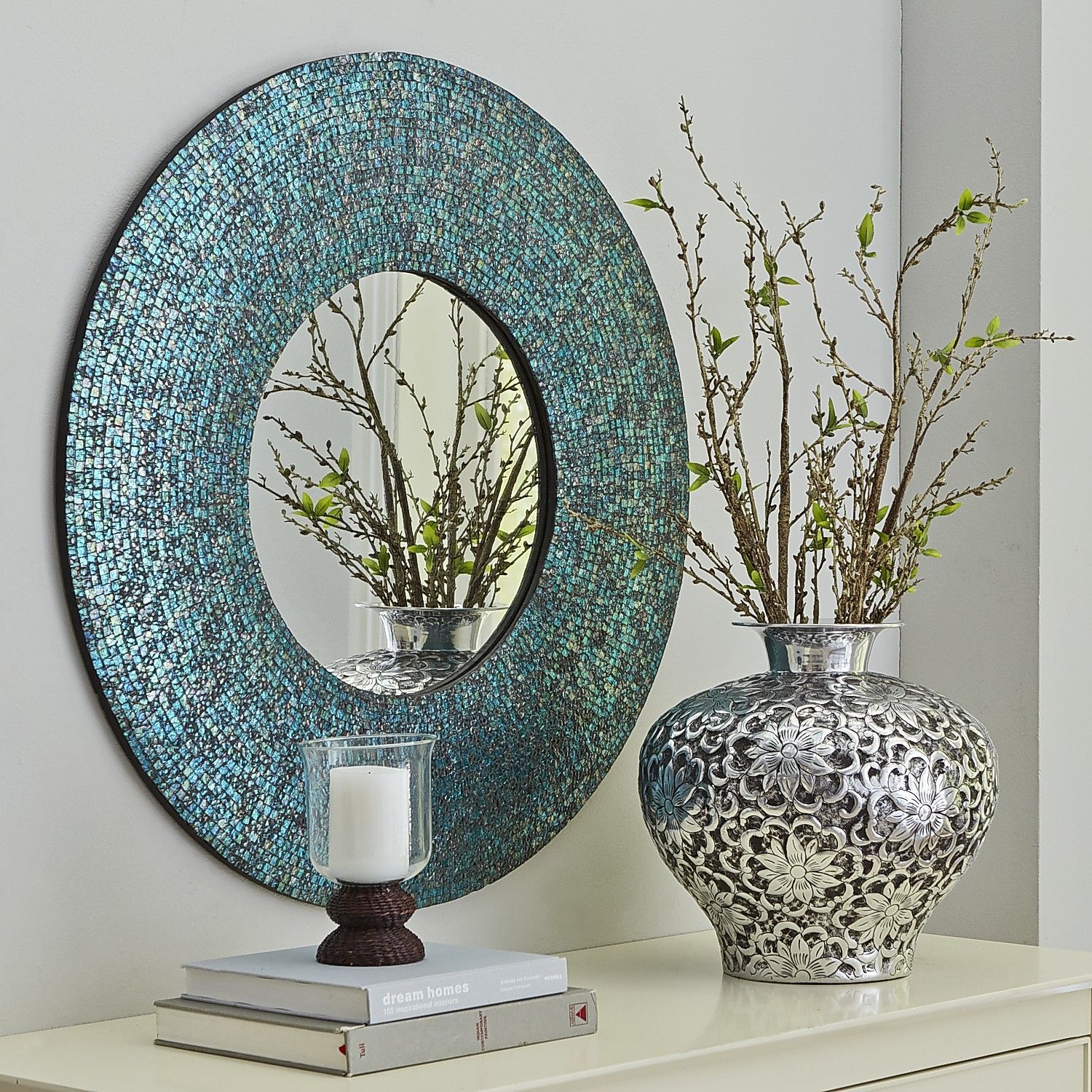 Azure Mosaic Mirror   Round | Pier 1 Imports   Jeff Really Liked This One,