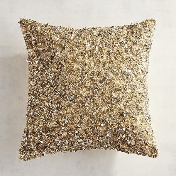 silver multi beads pillow