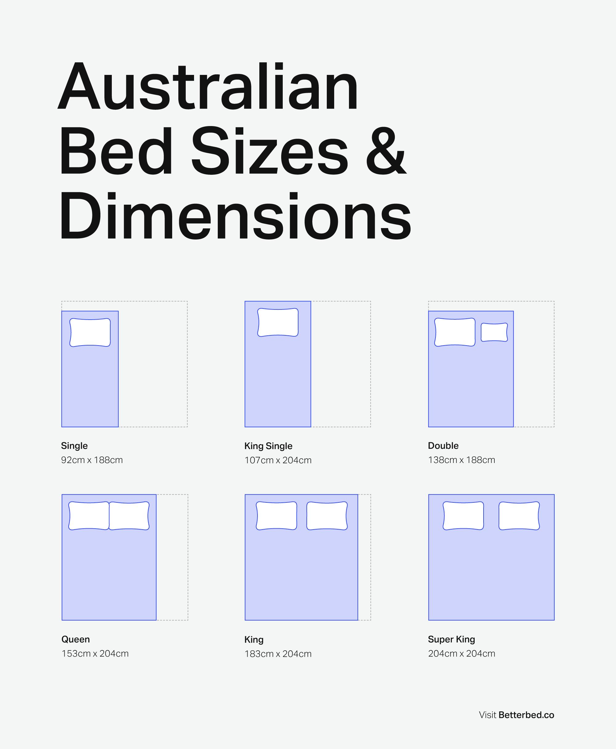 Image result for bed measure australia | jj | Pinterest | Bed size