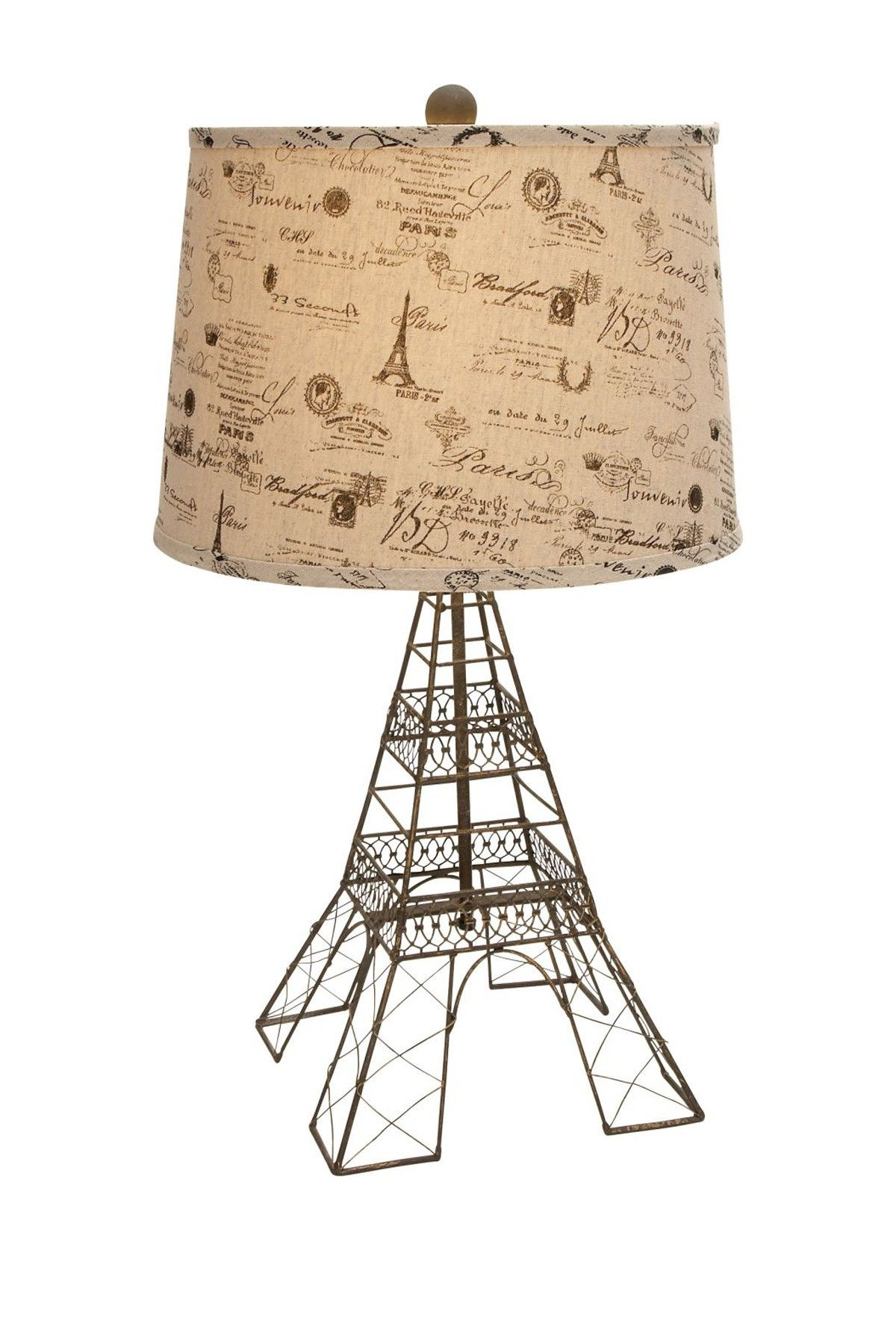 Metal eiffel tower table lamp beige diy pinterest arte metal eiffel tower table lamp beige aloadofball Images