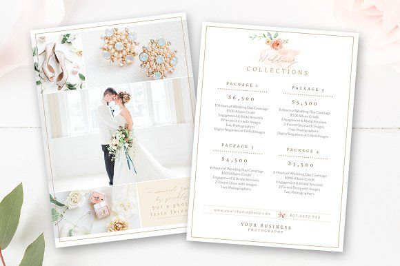 Wedding Photographer Pricing Guide  Brochures And Flyer Template