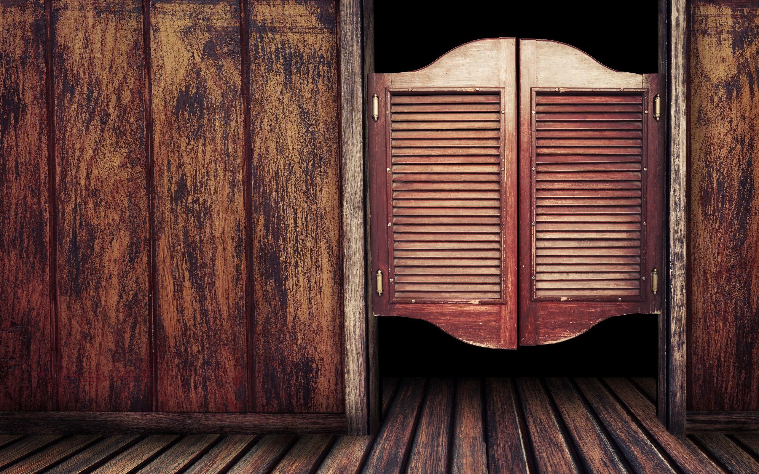 Wooden Door To Old Western Bar | Photo And Desktop Wallpaper