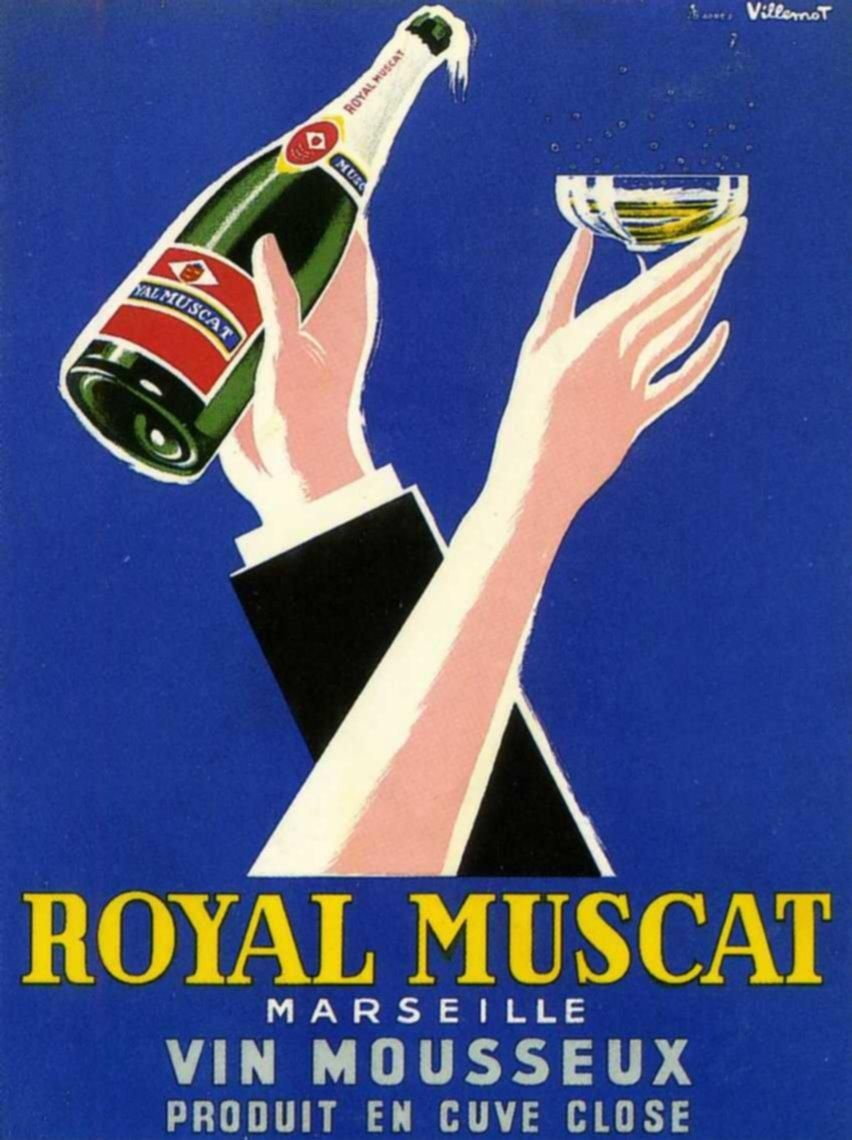 Devaux Wine France French Cognac Advertisement Art Poster 1900/'s Champagne Vve