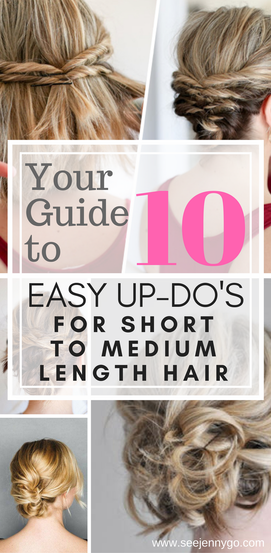 Easy updos for short to medium length hair short hair shorts and