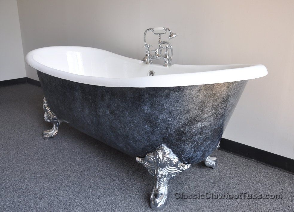Such A Beautiful 71 Cast Iron Double Ended Slipper Clawfoot Tub W