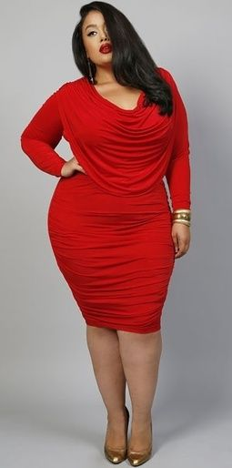 beautiful red plus size dress | Plus Size & Curvy | Pinterest ...