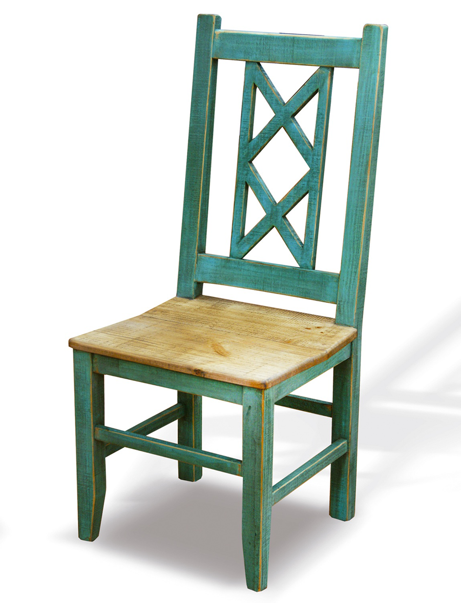 (http://www.americanhome.com/bombay X Back Turquoise Side Chair/)