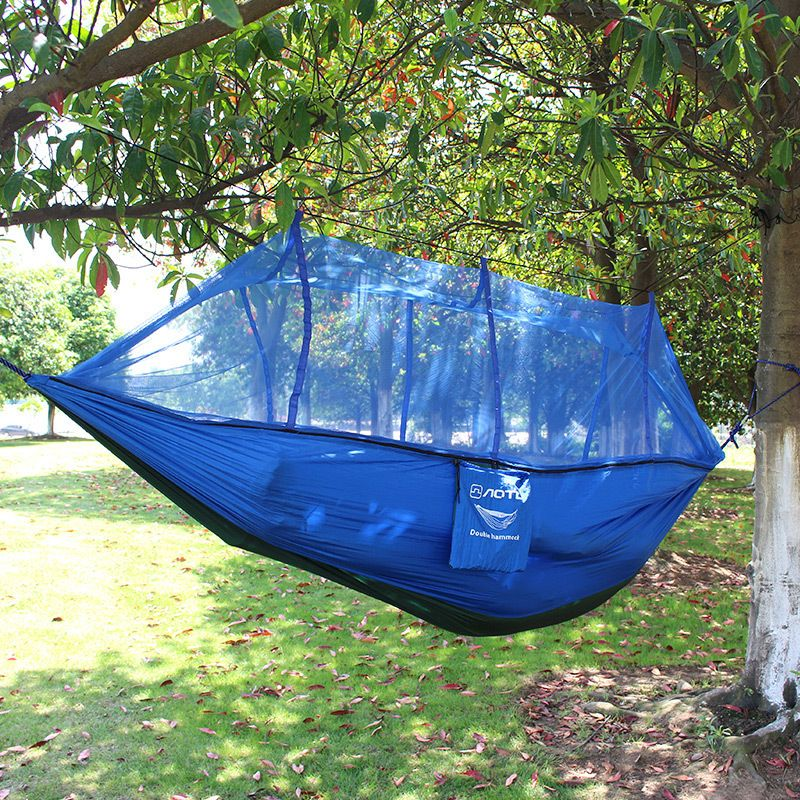 Doppio Paracadute Zanzariera Amaca Sedia Turismo Flyknit Hamaca Hamak Rede Giardino Altalena Campeggio Amaca Hangmat Dormire Hamac