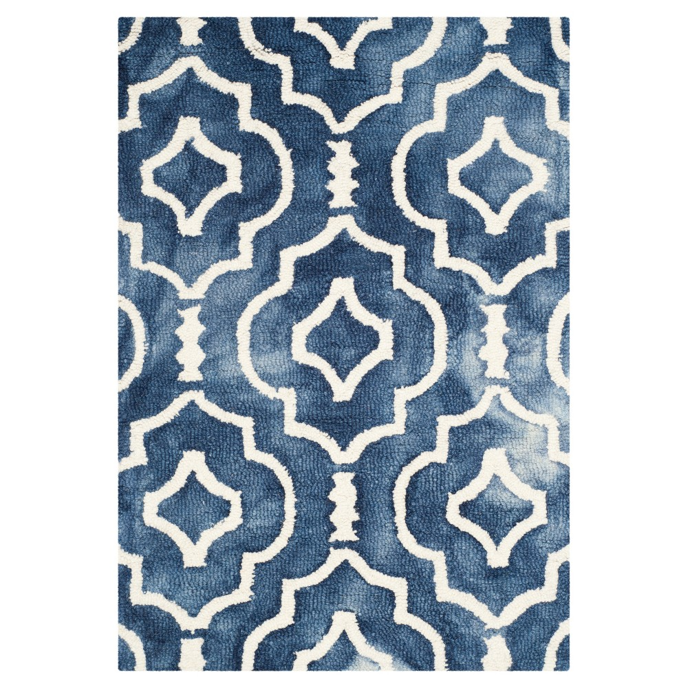 Alyson Accent Rug Navy Ivory 2 X 3 Safavieh Size 2 X3 Blue Wool Area Rugs Accent Rugs Area Rugs