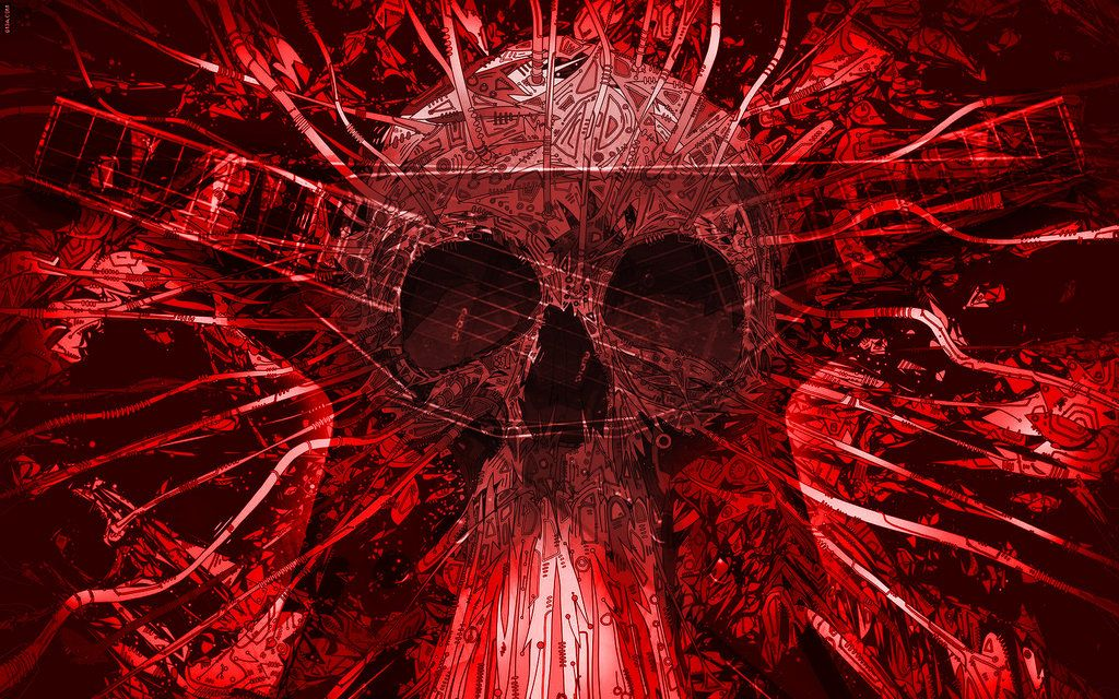 Large Winged Skull Black Red Wallpaper By Jilted Generation 1024 768 Red And Black Skull Wallpapers 44 Wal Black Skulls Wallpaper Skull Wallpaper Black Skulls