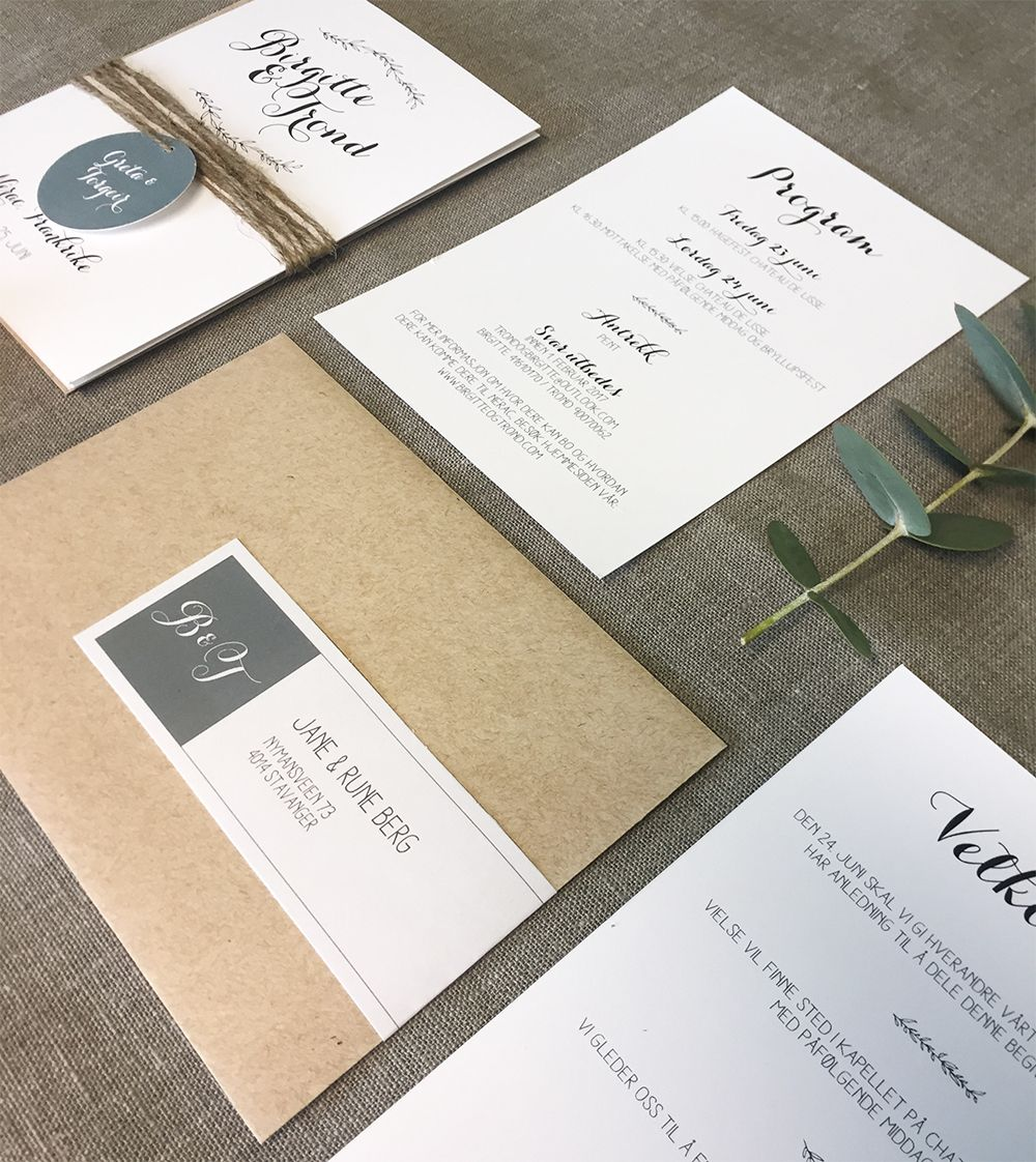 Rustic wedding invitations HeyPaperie