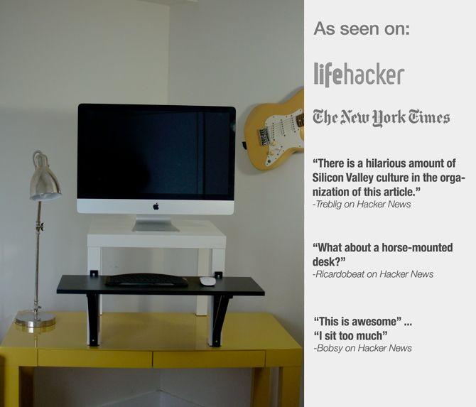 A Standing Desk For 22 Diy Standing Desk Ikea Standing Desk