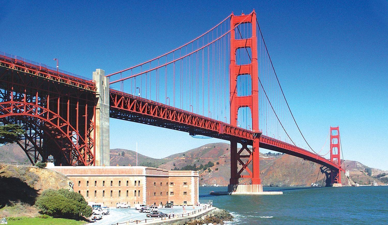 Golden Gate Bridge Fort Point USA