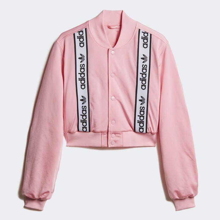 adidas Cropped Bomber Jacket | Adidas bomber jacket, Bomber ...