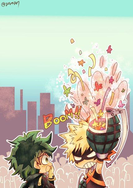 Kacchandeku Happy Birthday Midoriya Hero Anime My Hero