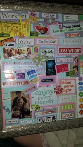Vision Board Example Vision Boards Pinterest Board