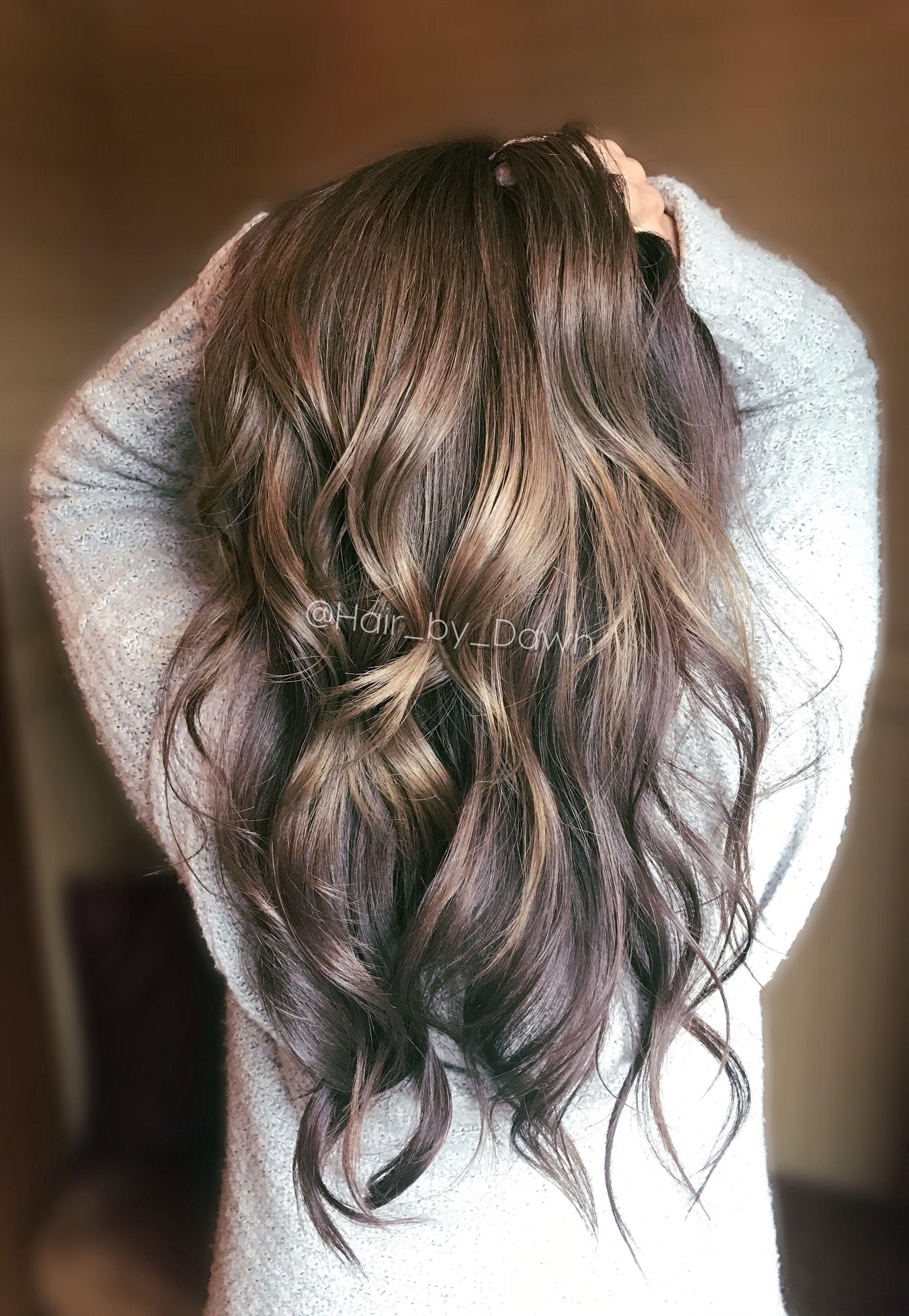 Metallic Ash Smoky Brown Metallic Hair Gray Hair Grey Hair Going Silver Metallic Hair Color Metallic Hair Grey Ombre Hair