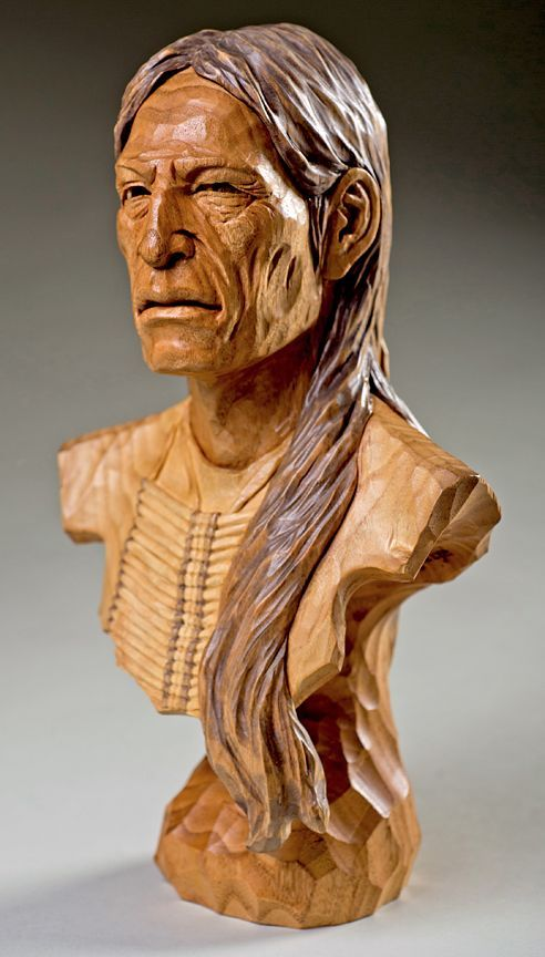 Native american wood carving by terry brasher