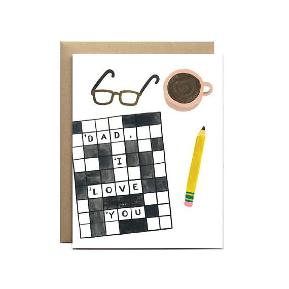 Dad Crossword Father S Day Card Card For Dad Dad Card Etsy Dad Cards Dad Birthday Card Funny Cards