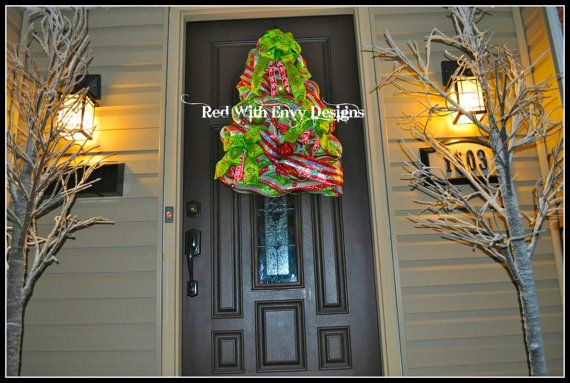 Large Christmas Tree Wreath Christmas Tree by RedWithEnvyDesigns