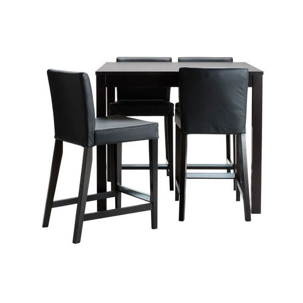 Luxury 800 CAD ❤ liked on Polyvore featuring home furniture tables interior mesas bar table and 4 bar stools black lacquer furniture New Design - Best of black pub table Amazing