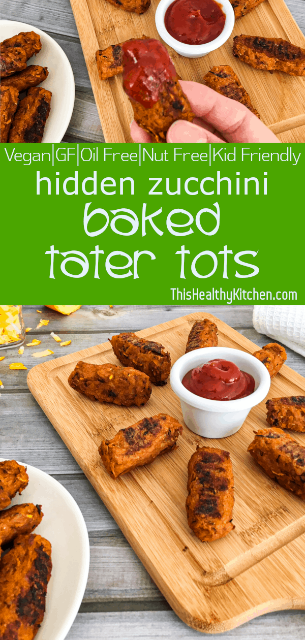 Baked Zucchini Tater Tots Baked tater tots are a healthier choice for family meals. Super flavourful with a crispy outside and soft and fluffy middle.