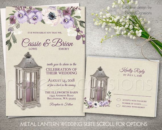 rustic lantern country wedding invitations and rsvp card the lantern wedding invitation is 5x7 and - Lantern Wedding Invitations