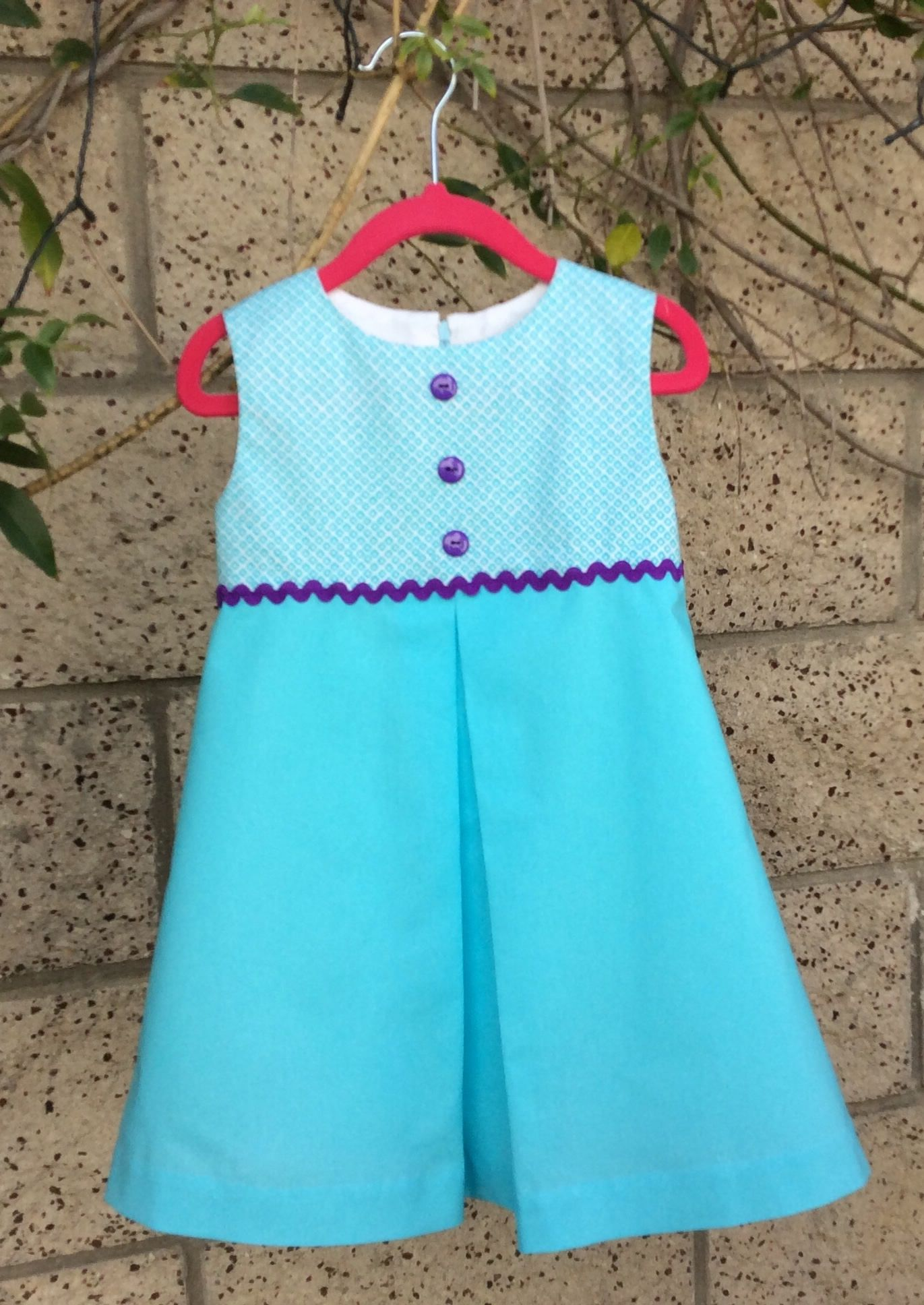 Girls toddlers dress, designer cotton dress, party dress, aqua and ...