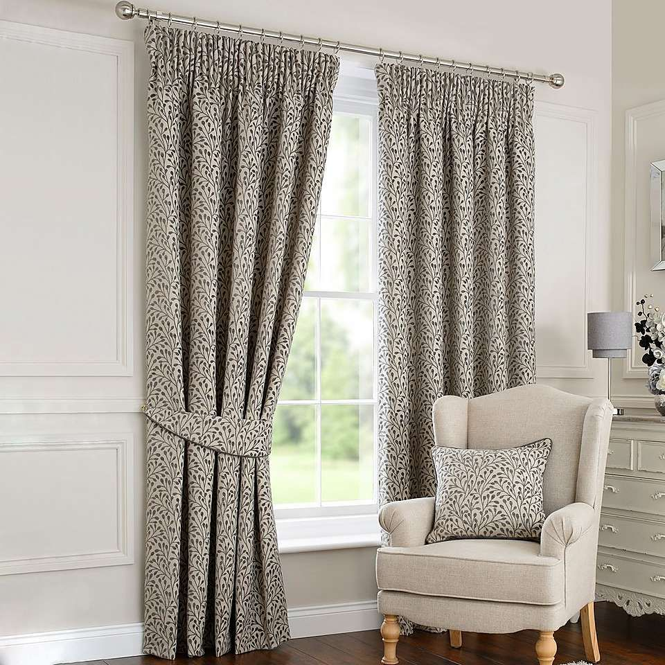 Willow Grey Pencil Pleat Curtains (With images) Grey