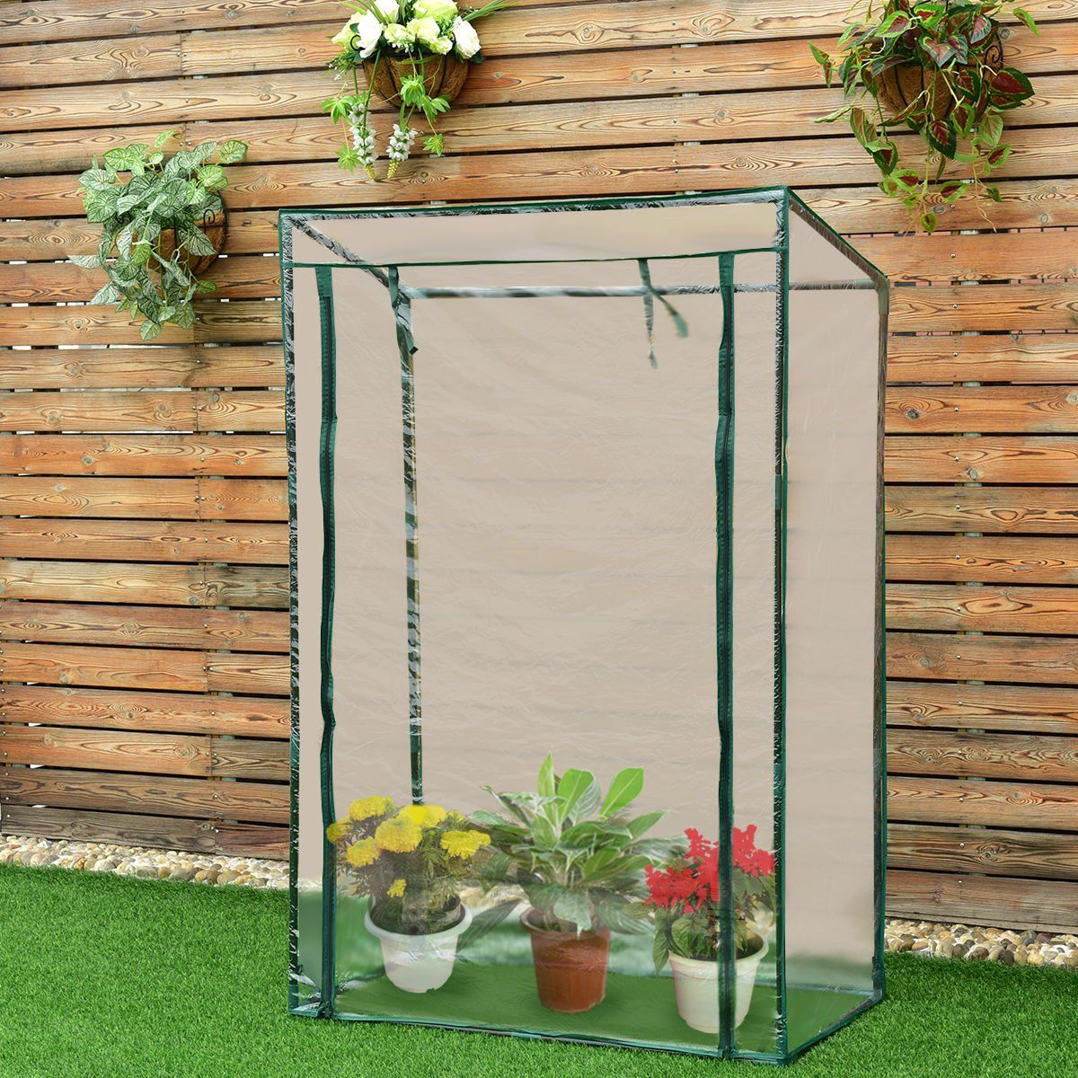 Gjh One Garden Greenhouse Grow House Plant Vegetable Portable Growbag Pvc Cover Outdoor 40x20x59 To View Further For This Item Visit The Image Link